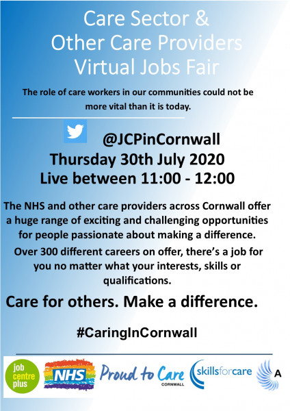 Care Sector & Other Care Providers Virtual Jobs Fair