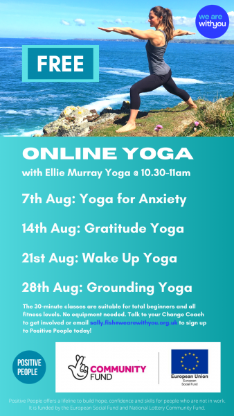 Online Yoga Events in August - with Ellie Murray